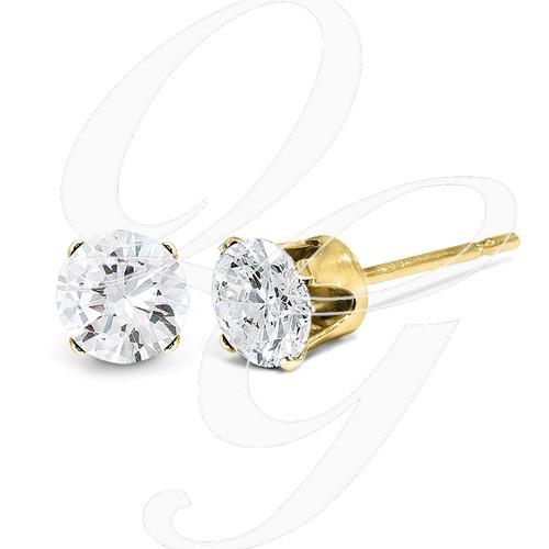 14ky .25ct. I2 K-L Diamond Stud Push-On Post Earrings